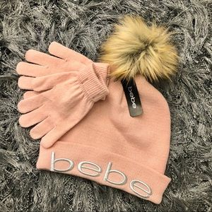 Bebe Blush Hat and Gloves Set